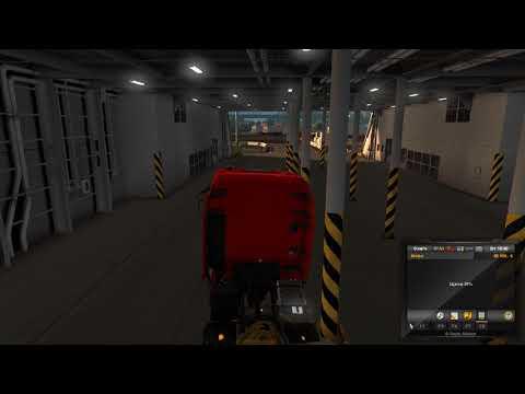Euro Truck Simulator 2 - Scandinavia ferry boat GLITCH