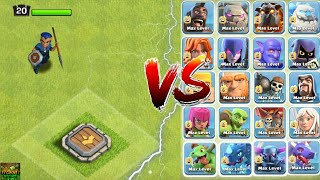 LVL 20 ROYAL CHAMPION VS ALL MAX TROOPS! WHO WILL WIN ? | Clash Of Clans