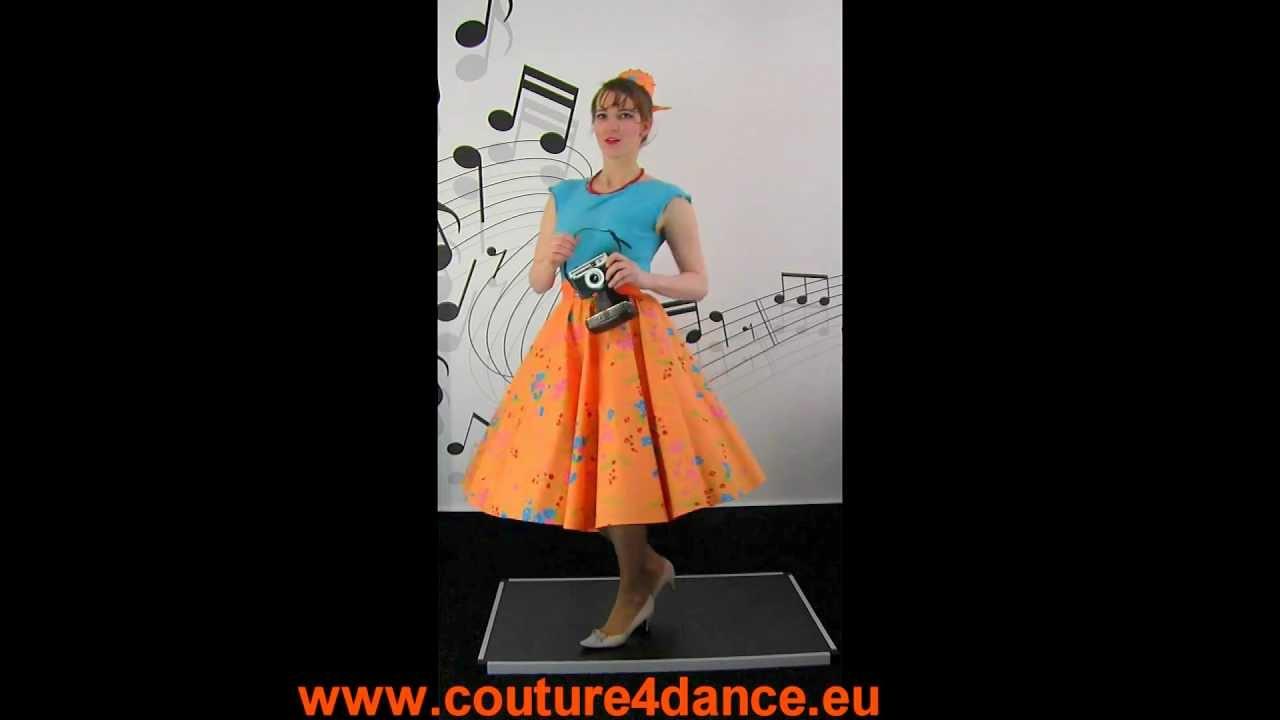 Tellerrock / Circleskirt Fun+Top Dana türkis+Petticoat Cinderella rot