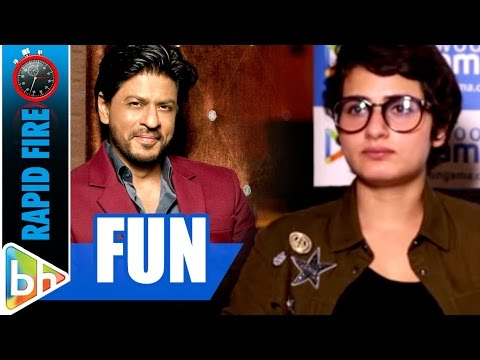 Fatima Sana Shaikh's FUN Rapid Fire On Shah Rukh Khan | Dangal | Aamir Khan