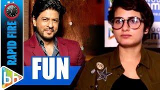Fatima Sana Shaikh's FUN Rapid Fire On Shah Rukh Khan | Dangal | Aamir Khan