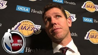 Luke Walton on Los Angeles Lakers' front office: 'There's no doubt that they support me' | ESPN