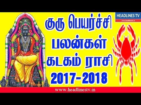 Jupiter transit |Guru Peyarchi 2017-2018 in Tamil For Kadagam Raasi | குரு பெயர்ச்சி பலன் கடகம் ராசி