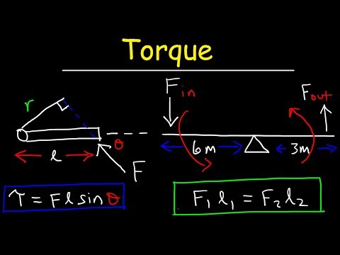 Torque, Basic Introduction, Lever Arm, Moment of Force, Simple Machines & Mechanical Advantage