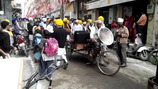 Punjabi Indian music band at parade in Amritsar