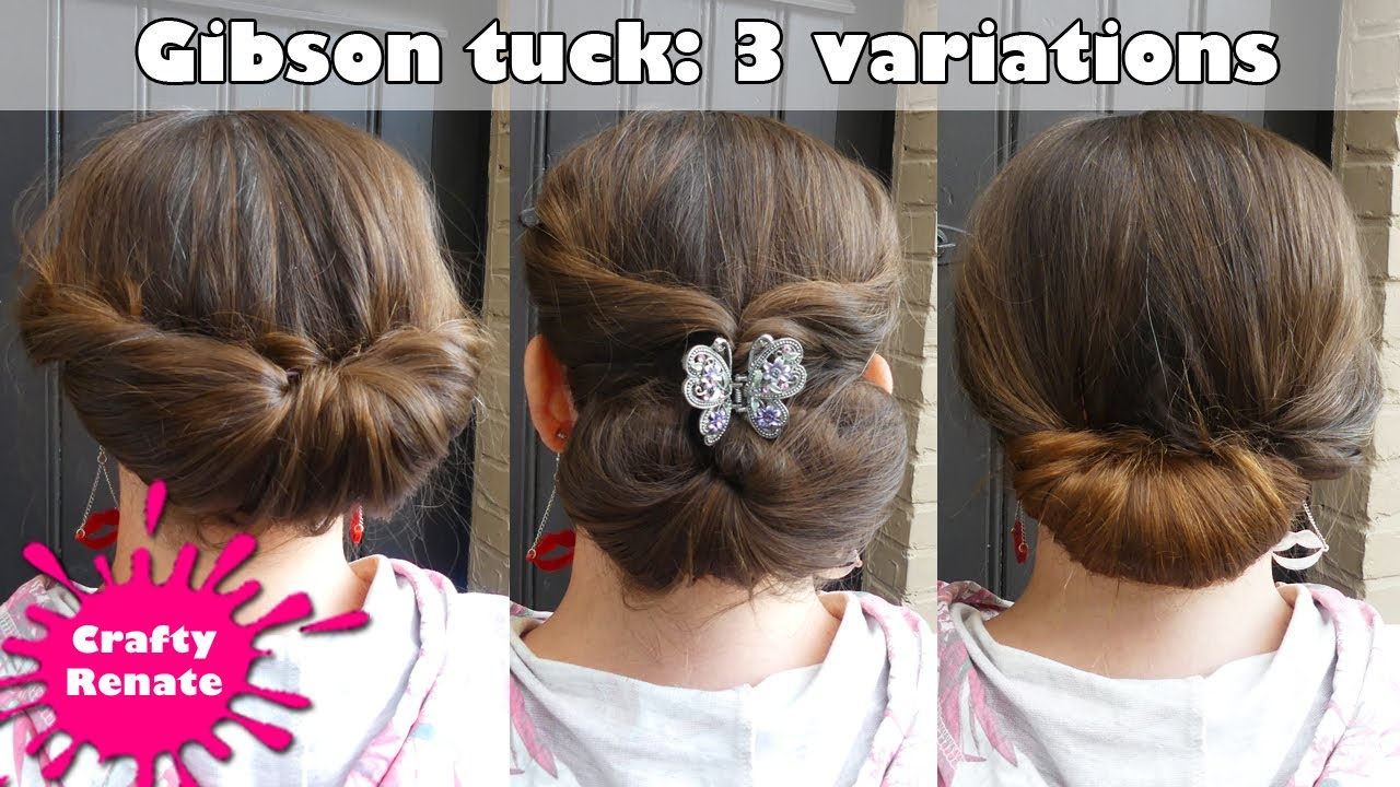 Updo For Long Hair Gibson Tuck Tutorial Variations