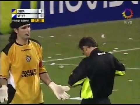 Patada de Sessa a Rodrigo Palacio (Boca vs Velez)