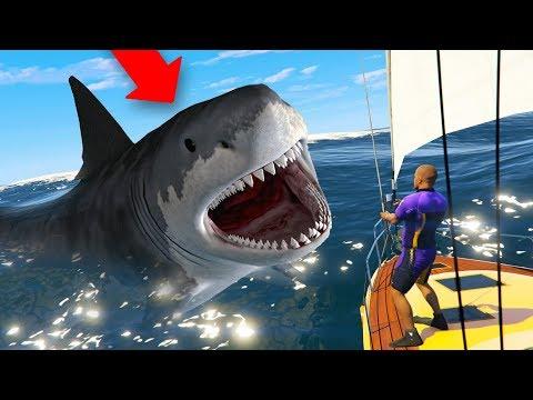 HUNTING The MEGALODON SHARK In GTA 5! thumbnail