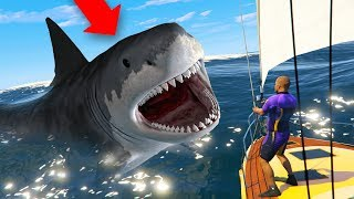 HUNTING THE MEGALODON SHARK IN GTA 5!