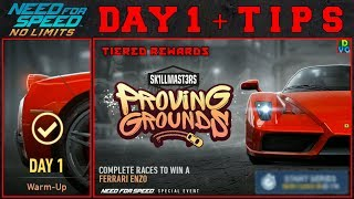 NFS No Limits | Proving Grounds - Ferrari Enzo | Day 1 + TIPS
