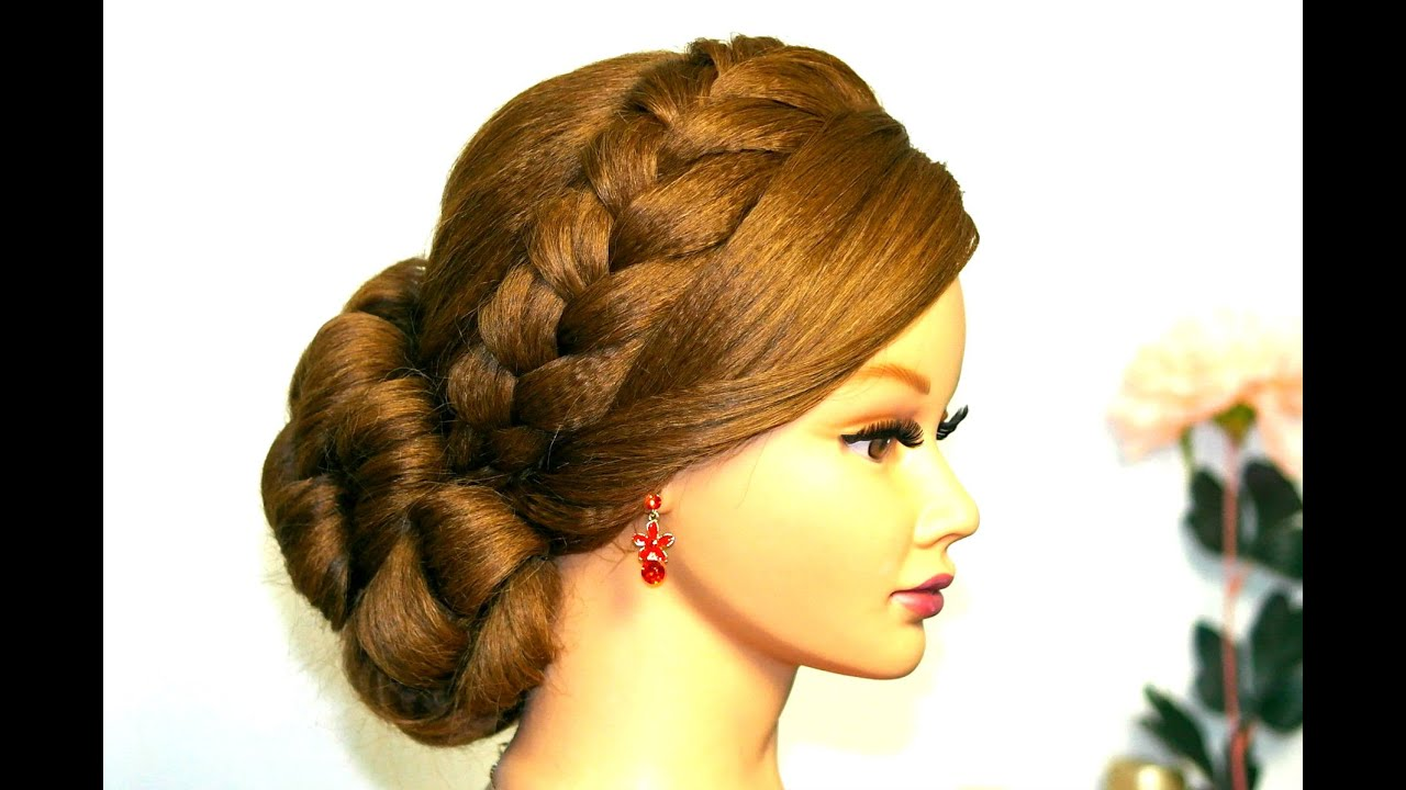 Wedding Prom Hairstyle For Long Hair Updo With French