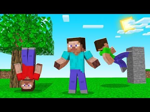 Minecraft, BUT GRAVITY Is RANDOM! (weird)