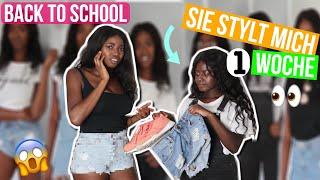 Meine SCHWESTER stylt mich für eine Schulwoche um 😳 | Back to School Challenge