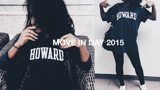Howard University MOVE IN DAY Vlog