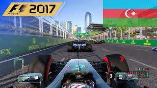 F1 2017 - 100% Race at Baku City Circuit in Bottas' Mercedes