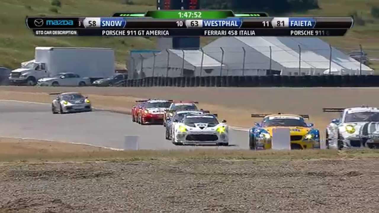 2014 Mazda Raceway Laguna Seca PC/GTD Race Broadcast - YouTube