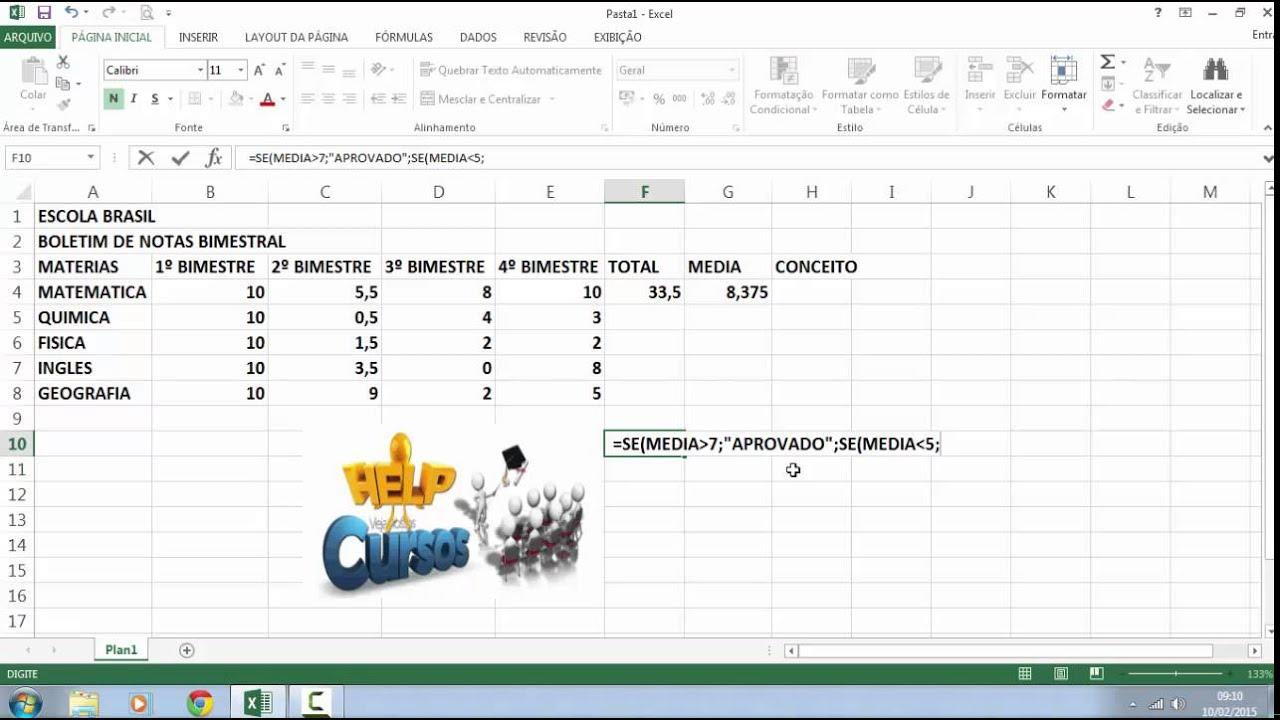 Super Como Criar um Boletim de Notas Bimestral - YouTube SZ64