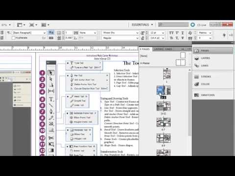 Adding Page Numbers in Adobe InDesign CS5.5 - YouTube