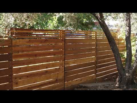 Horizontal Fence - Easy DIY Project