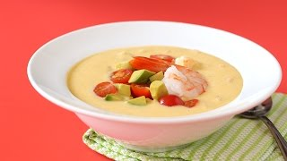 No-Cook Southwestern Corn & Shrimp Soup - Martha Stewart