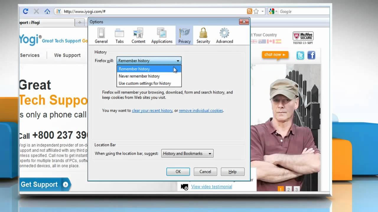 how to delete cookies on windows 7 firefox