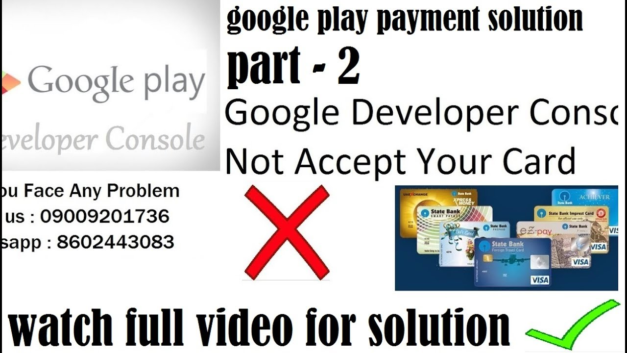 Google developer console payment solution part 2 youtube - Google developer console ...