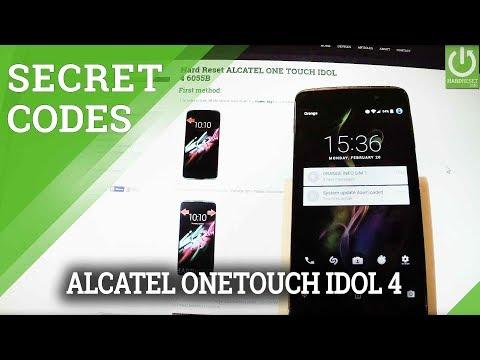 Codes in ALCATEL ONE TOUCH IDOL 4 - Advanced Settings / Secret Menu