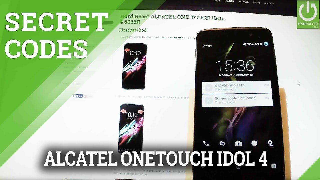 Resetting Videos ALCATEL ONE TOUCH IDOL 4S 6070O - HardReset