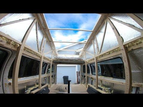 Homemade See Through High Top Camper Van Tour - DIY Star Gazer Hightop