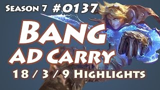 SKT T1 Bang - Ezreal vs Ashe - KR LOL Highlights | 뱅 이즈리얼