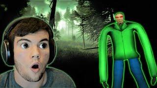 BALDI CAME AFTER ME IN THE FOREST?! - Baldi (Slender Mod)