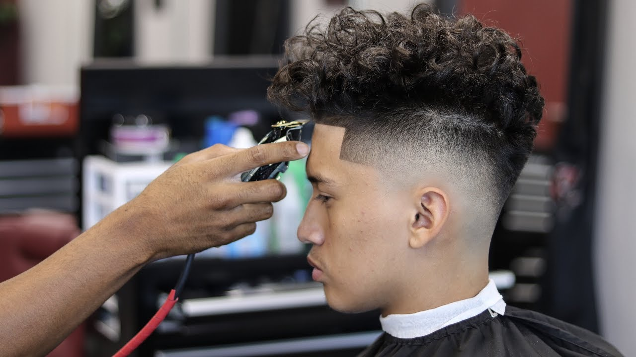 Haircut Tutorial Drop Fade Curly Top Youtube