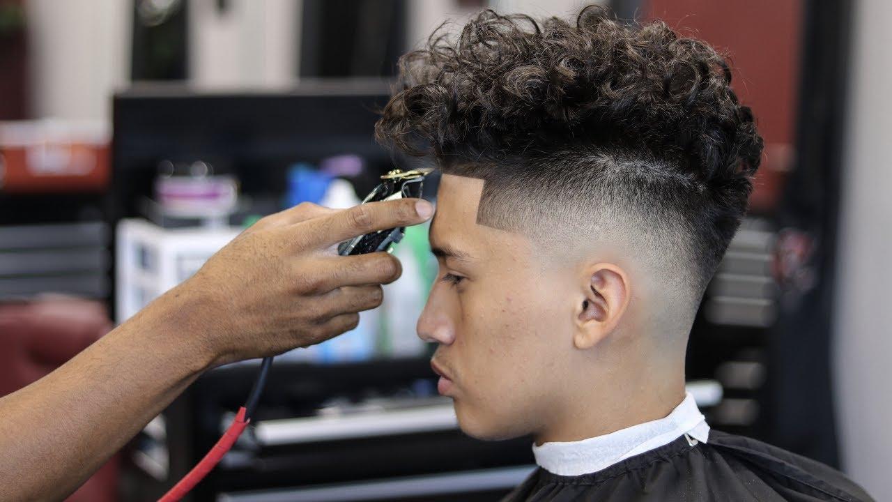 haircut tutorial drop fade curly