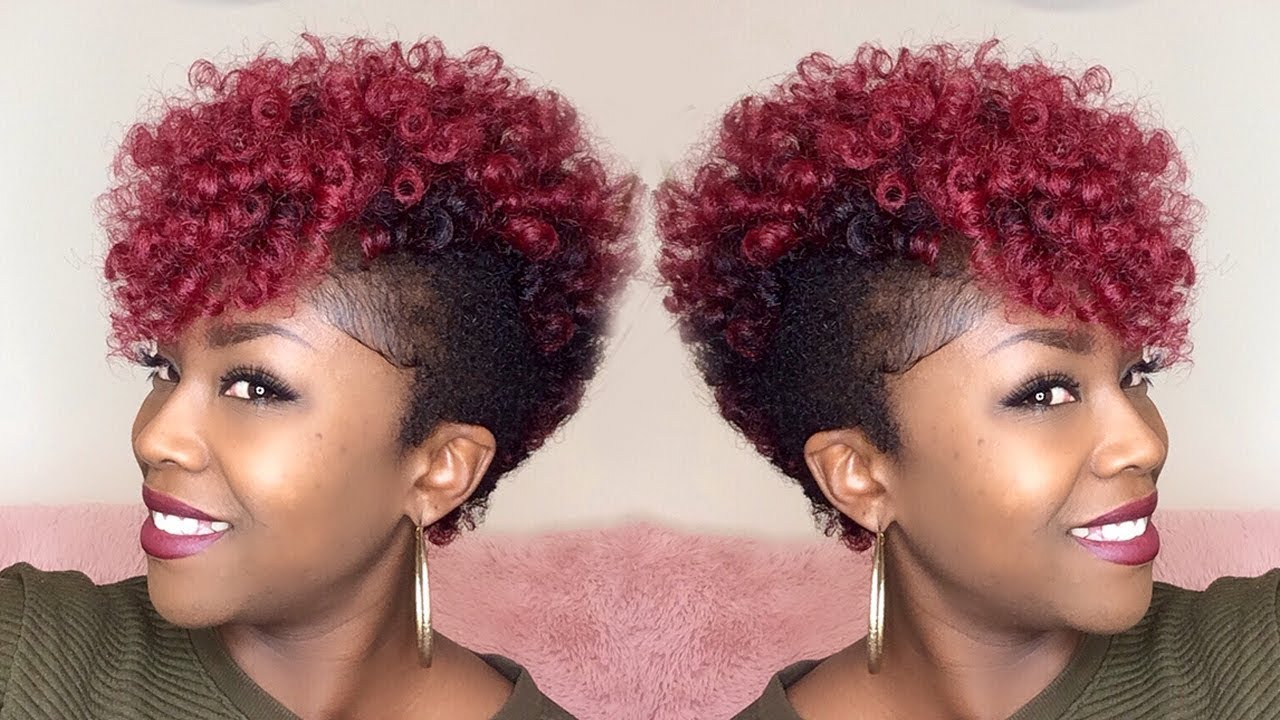how to tapered crochet mohawk {janet yoyokalon hair} super itchy!!