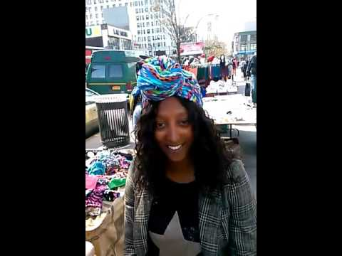 Eritrean customer visiting Harlem from Germany