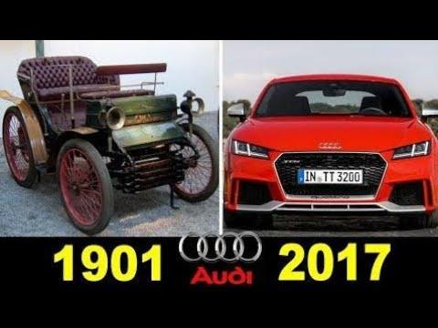 Top Cars:  Audi - Evolution (1901 - 2017)