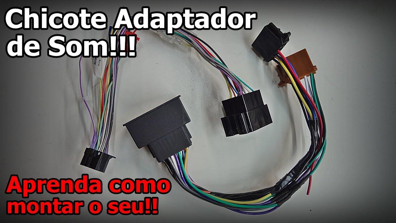 Chicote Adaptador De Som Veja Como Montar Youtube