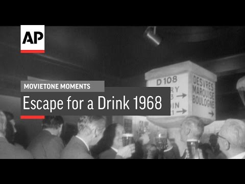 Escape For A Drink - 1968 | Movietone Moment | 24 March 17