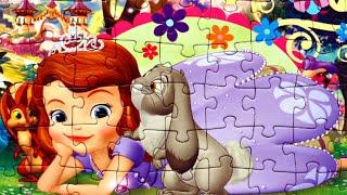 София Прекрасная Принцесса София собираем пазлы для детей с героями мультика Disney Princess Sofia