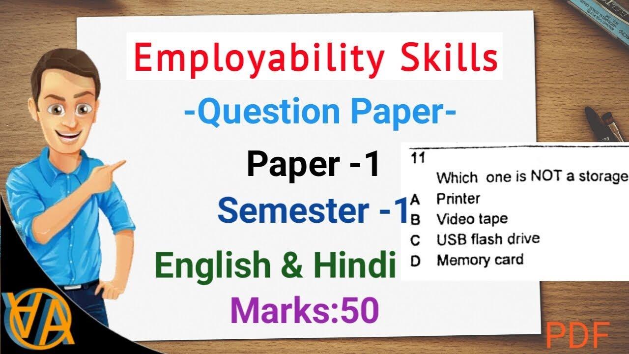 employability skills 1st sem question paper iti ncvt mis portal