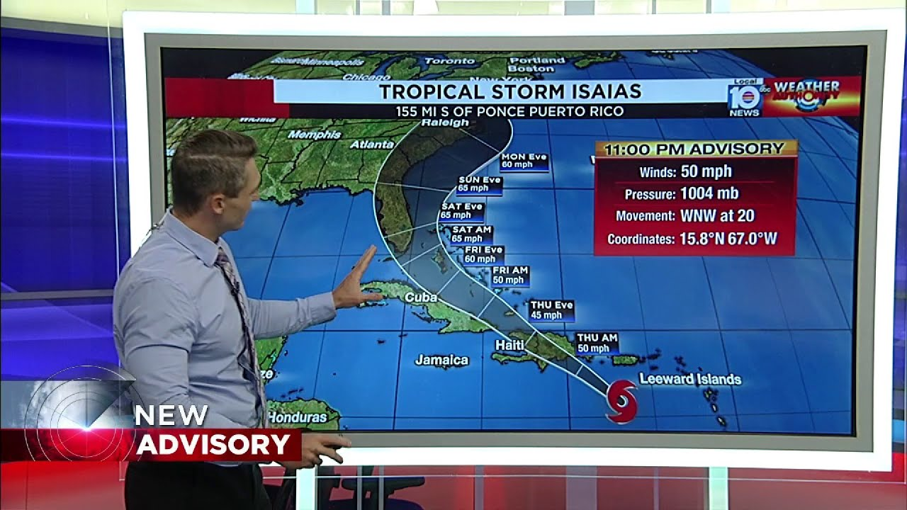 Hurricane Isaias' track remains uncertain, but here's when the ...