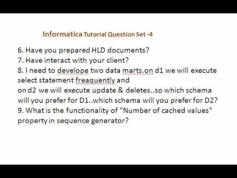 Informatica Interview Questions Set 4 - YouTube