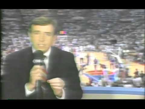 CBS Intro: Game 1, 1989 NBA Finals; Pistons/Lakers