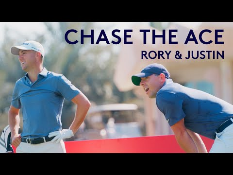 Rory McIlroy & Justin Thomas try to make a hole-in-one with 50 balls