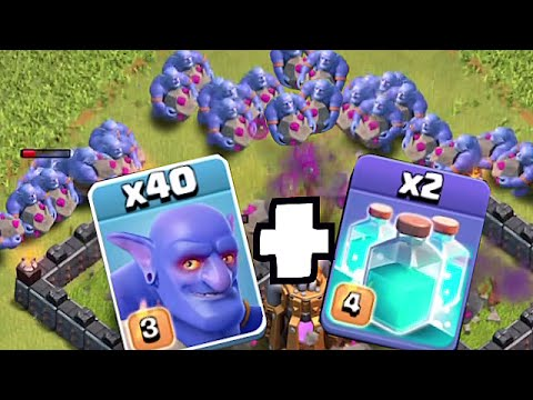 Clash Of Clans - 50 BOWLERS w/ CLONE SPELLS!! (Mass attack!!)