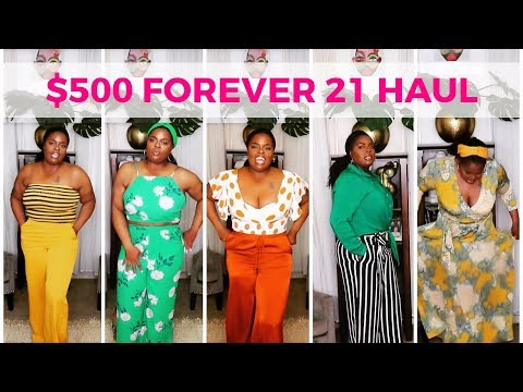 HUGE SPRING SUMMER TRY ON HAUL  - I SPENT $500 ON FOREVER21