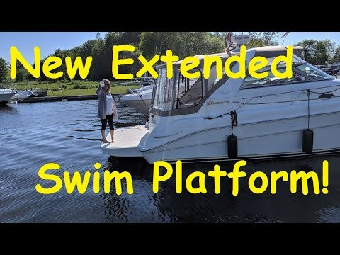 New Swim Platform Extension Installation!