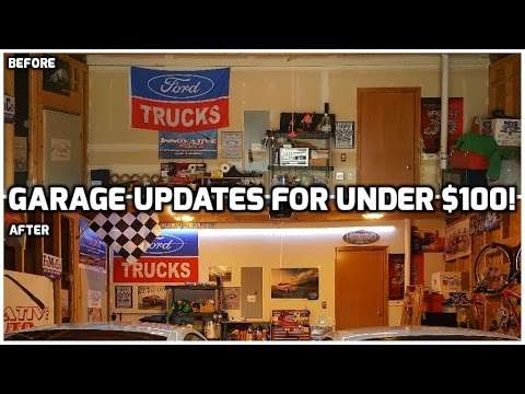Improving our Garage for under $100! | Quick and Easy Upgrades