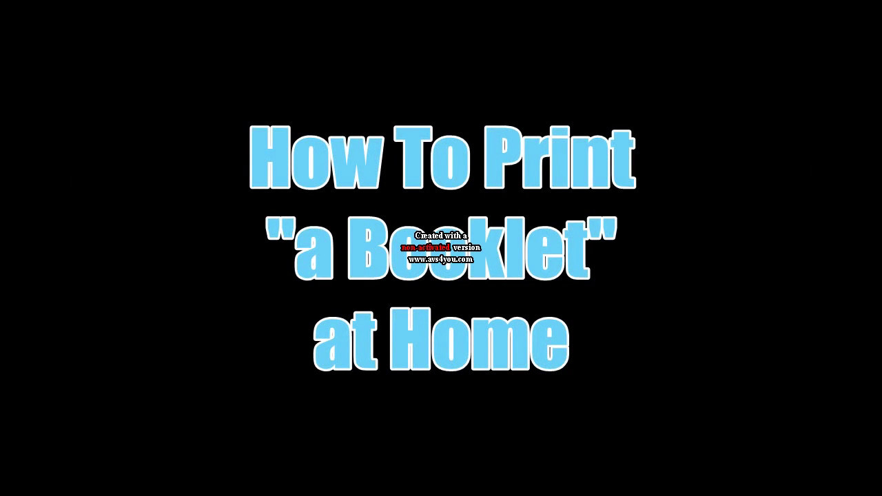 how to print a booklet using pdf