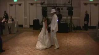 "Wedding First Dance w/ Surprise - Glory of Love DJ ""Mess Up"" into Akon"